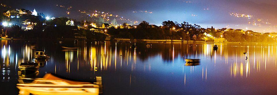 Ruta en velero por la Ría de Vigo . Islas de San Simón .